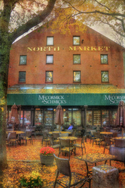 Photograph - Faneuil Hall North Market In Falll by Joann Vitali