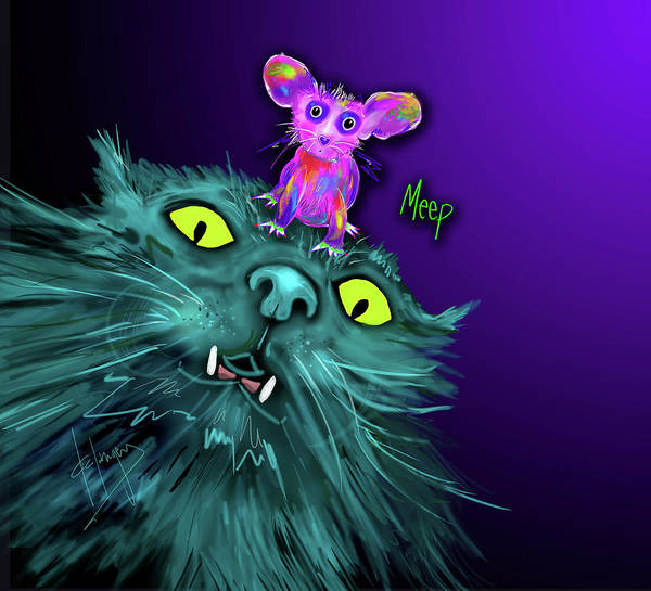 Painting - Fang And Meep  by DC Langer