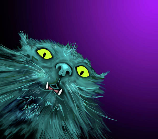 Painting - Fang Dizzycat by DC Langer