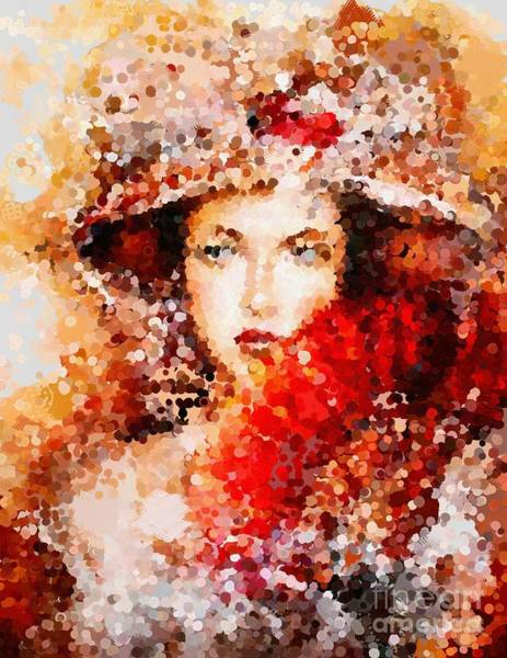 Painting - Fanned Lady Hotty Totty Style by Catherine Lott