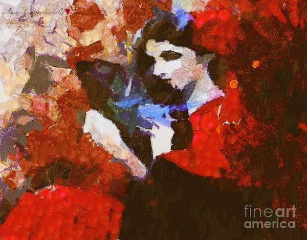 Painting - Fanned Lady Painting In Pinatamiche by Catherine Lott