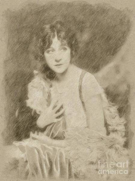 Wizard Drawing - Fanny Brice, Vintage Entertainer by Frank Falcon