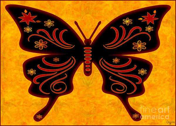 Digital Art - Fantasies Of Light Abstract Bliss Butterflies By Omashte by Omaste Witkowski
