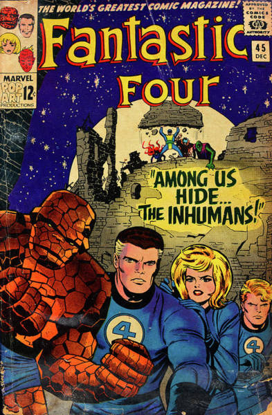 Wall Art - Photograph - Fantastic Four Comic Cover by David Lee Thompson