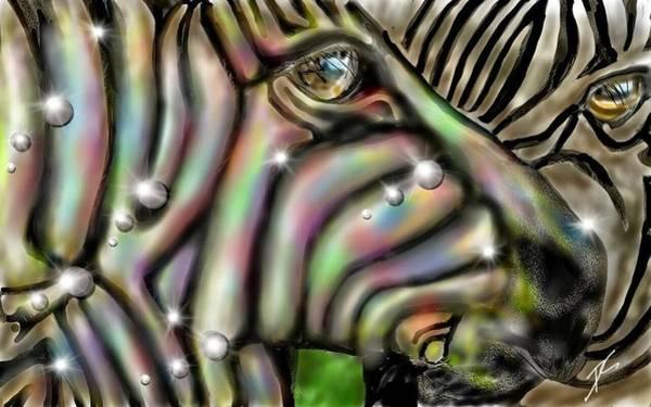 Digital Art - Fantastic Zebra by Darren Cannell