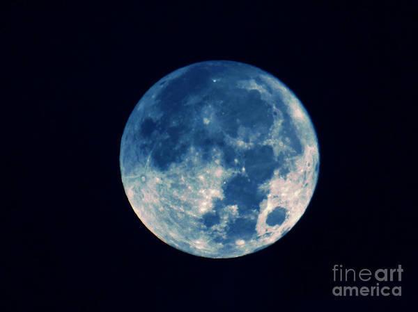 Photograph - Fantasy Blue Moon by D Hackett