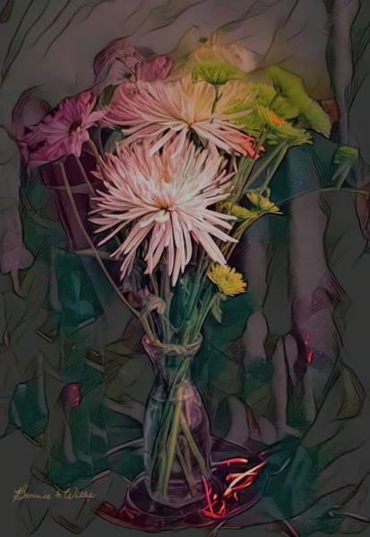 Digital Art - Fantasy Bouquet by Bonnie Willis