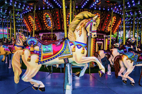 Photograph - Fantasy Carrousel Horse Ride by Garry Gay