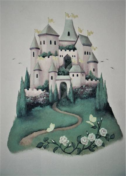 Painting - Fantasy Castle by Suzn Smith