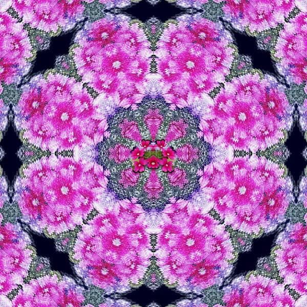 Wall Art - Mixed Media - Fantasy Cherry Flower Mandala Pop Art  by Pepita Selles
