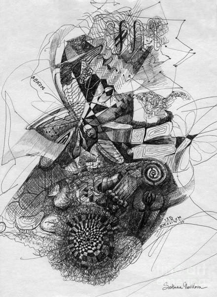 Pen Drawing Painting - Fantasy Drawing 2 by Svetlana Novikova