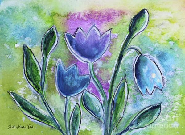 Wall Art - Painting - Fantasy Flowers by Jutta Maria Pusl