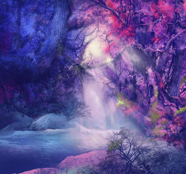 Nebula Digital Art - Fantasy Forest 5 by Bekim Art