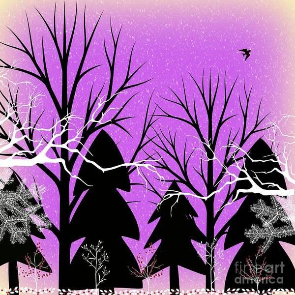 Digital Art - Fantasy Forest by Diamante Lavendar