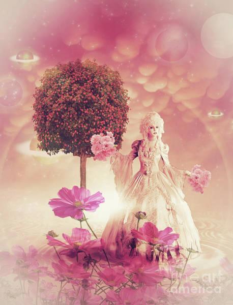 Blooming Tree Mixed Media - Fantasy Garden by KaFra Art