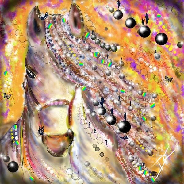 Digital Art - Fantasy Horse by Darren Cannell