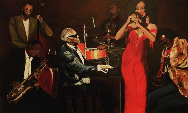 Wall Art - Painting - Fantasy Jazz by Kim Selig