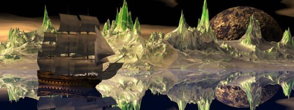 Scifi Digital Art - Fantasy Quest by Claude McCoy