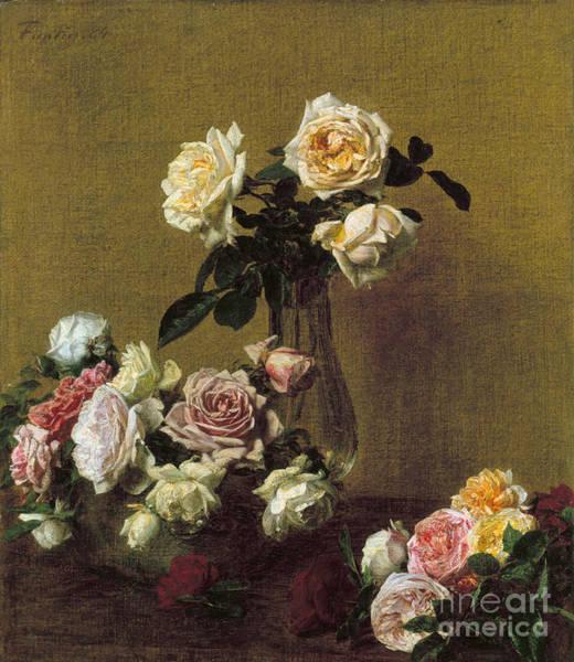 Rose Bowl Photograph - Fantin-latour: Roses, 1884 by Granger