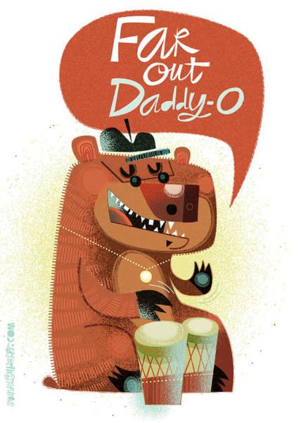 Cool Jazz Digital Art - Far Out Daddy O by Daniel Guidera