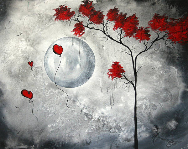 Gray Painting - Far Side Of The Moon By Madart by Megan Duncanson