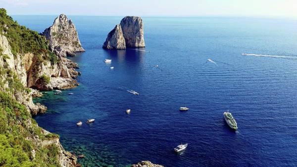 Digital Art - Faraglioni Rocks, Isle Of Capri by Joseph Hendrix