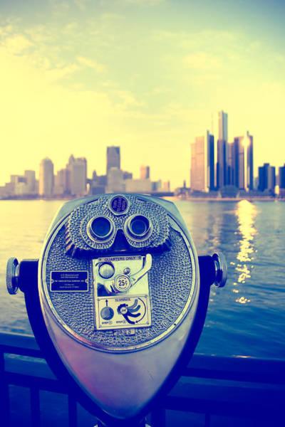 Detroit Photograph - Faraway Detroit by Andreas Freund