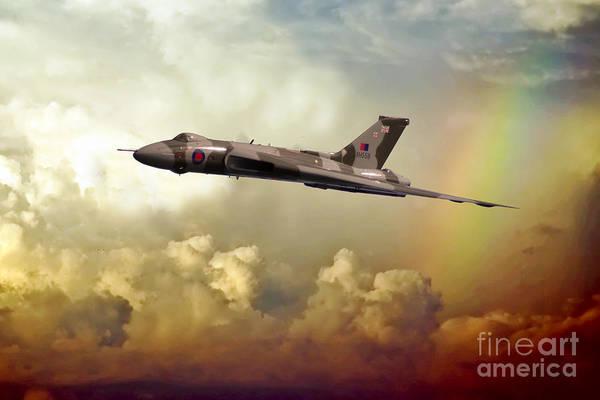 Vulcan Xh558 Wall Art - Digital Art - Farewell Delta Lady by J Biggadike