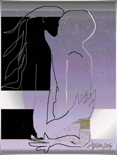 Digital Art - Farewell Kiss by Larry Talley