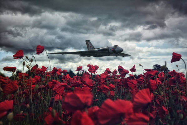 Vulcan Bomber Wall Art - Photograph - Farewell To The Spirit Of Great Britain  by Jason Green