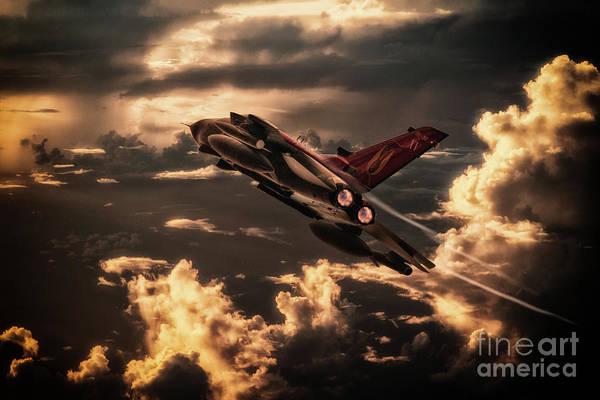 Tornado Digital Art - Farewell Xv Squadron by J Biggadike