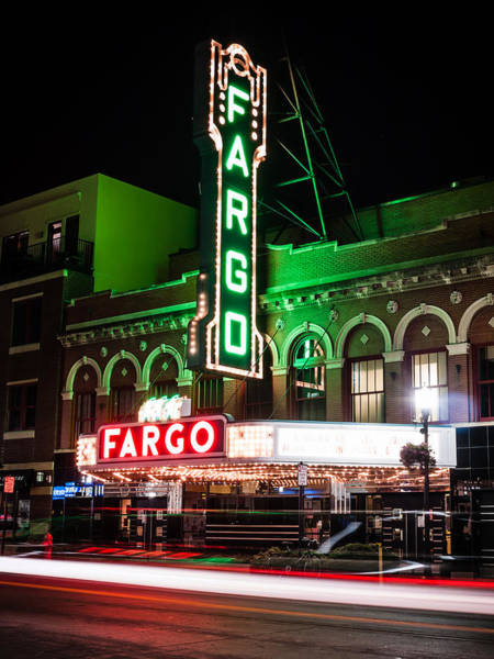 North Dakota Photograph - Fargo Nd Theatre At Night Picture by Paul Velgos
