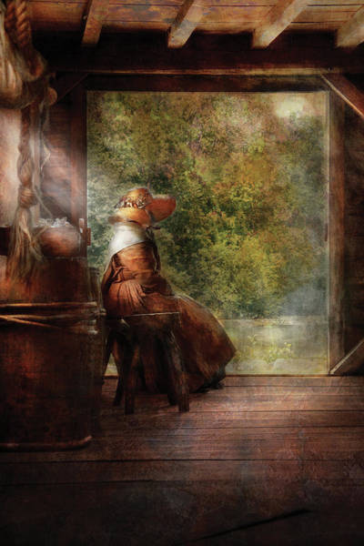 Miss You Photograph - Farm - Farmer - Mother by Mike Savad