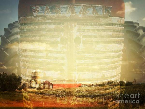 Photograph - Farm And Farmall Double Exposure by Iryna Liveoak