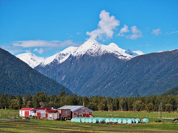 Photograph - Farm And Mountains - New Zealand by Steven Ralser