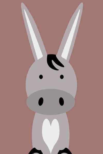 Front Room Digital Art - Farm Animals - Donkey by Mihaela Pater