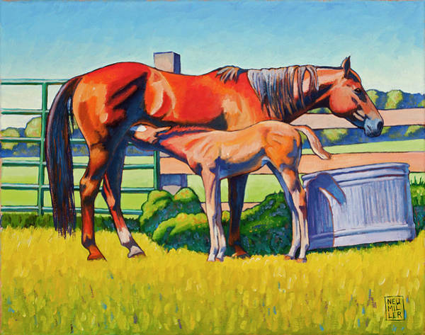 Wall Art - Painting - Farm Breakfast by Stacey Neumiller