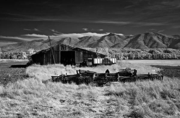 Photograph - Farm Building In Infrared by Lee Santa