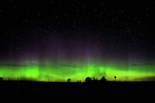 Photograph - Farm Country Aurora by Dale Kauzlaric