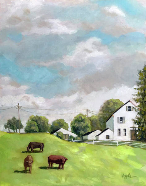 Wall Art - Painting - Farm Country by Linda Apple