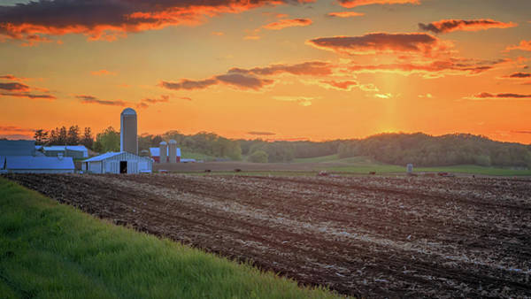 Photograph - Farm Country Sunset by Susan Rissi Tregoning