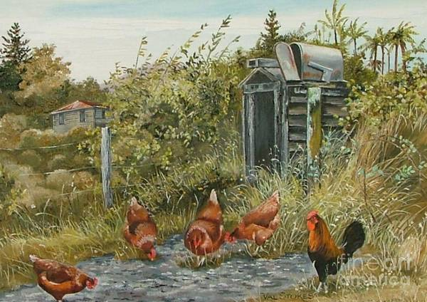 Painting - Farm Fossicking by Val Stokes