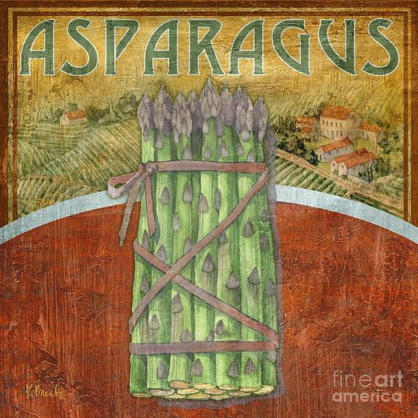 Asparagus Wall Art - Painting - Farm Fresh Asparagus by Paul Brent