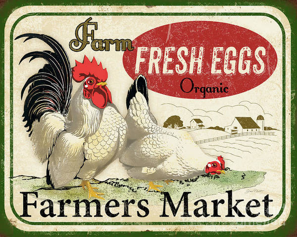 Wall Art - Digital Art - Farm Fresh Eggs-a by Jean Plout
