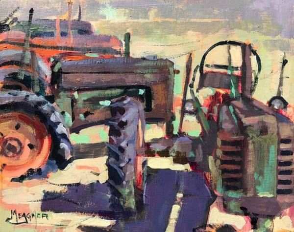 Vintage Tractor Painting - Farm Hands by Spencer Meagher