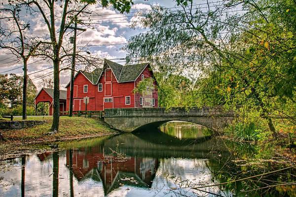 Orchard Digital Art - Farm House Bridge And Reflection by Geraldine Scull