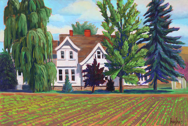 Painting - Farm House - Chinden Blvd by Kevin Hughes