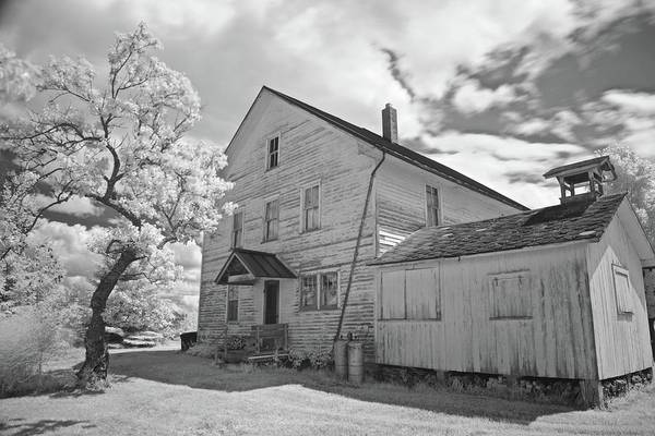 Wall Art - Photograph - Farm House Infrared 6274 by Michael Peychich