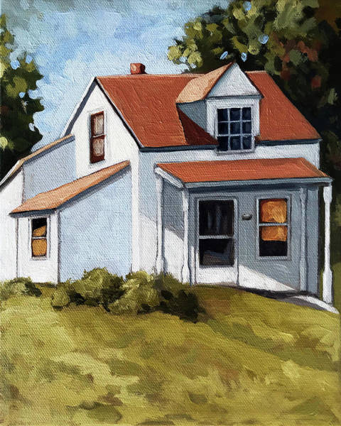 Wall Art - Painting - Farm House Original Oil Painting by Linda Apple