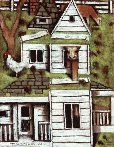 Wall Art - Painting - Tommervik Farmhouse Art Print by Tommervik